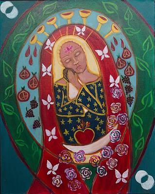 Red Madonna Art Print by Havi Mandell