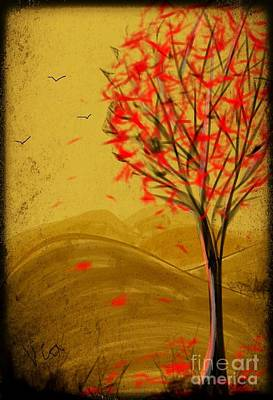 Red Maple  Art Print by Judy Via-Wolff