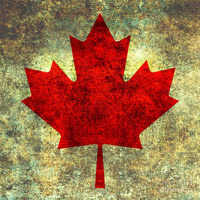 Canadiens Digital Art - Red Maple Leaf Single by Bruce Stanfield