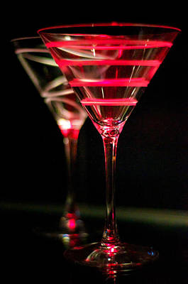 Martini Photos - Red Martini by Spencer McDonald