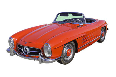 Photograph - Red Mercedes Benz 300 Sl Convertible by Keith Webber Jr