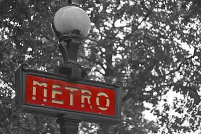 Metro Art Photograph - Red Metro by Georgia Fowler
