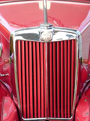 Swank Photograph - Red Mg by Susan Duda