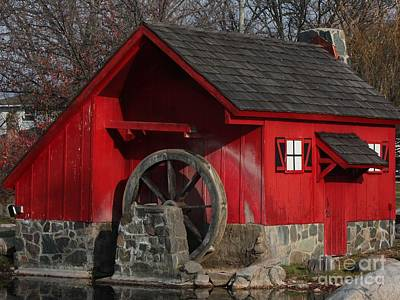 Photograph - Red Mill Closeup by Bill Woodstock