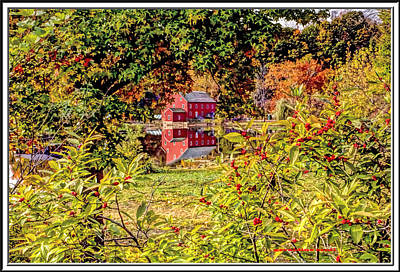 Haunted House Digital Art - Red Mill In Clinton New Jersey by Geraldine Scull