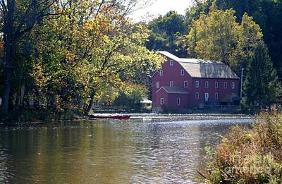 Photograph - Red Mill In Clinton New Jersey On A Autumn Day by Living Color Photography Lorraine Lynch