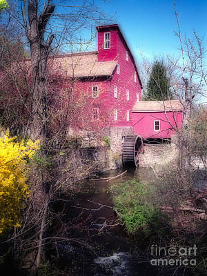 Red Mill In Early Spring Art Print by George Oze