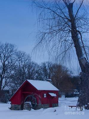 Photograph - Red Mill In Winter by Bill Woodstock