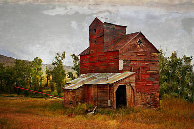 Red Mill Montana Art Print by Marty Koch