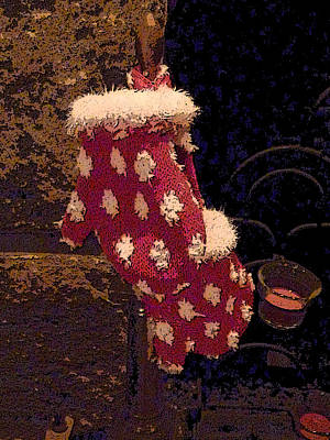 Photograph - Red Mittens At The Fireplace by Margie Avellino