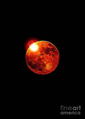 Red Moon Art Print by David Turner