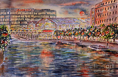Red Moon Over Berlin Art Print by Alfred Motzer