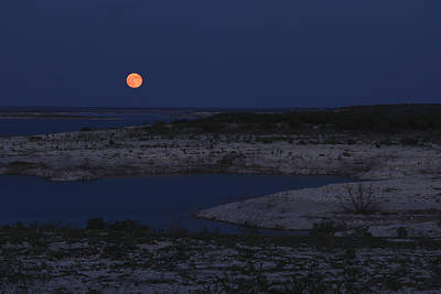 Photograph - Red Moon Rising by Amber Kresge