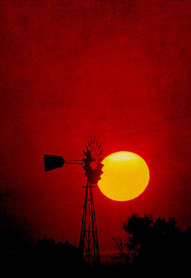 Photograph - Red Morning by David and Carol Kelly