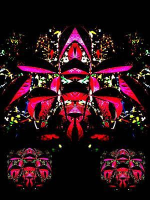 Red Mosaic Art Print by Aliceann Carlton