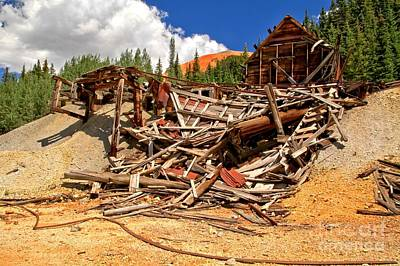 Photograph - Red Mountain Collapse by Adam Jewell