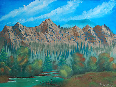 Painting - Red Mountain Creek by Peter Kallai