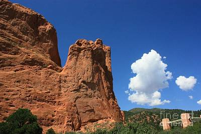 Photograph - Red Mountain Garden Of The Gods  Colorado by Robert D  Brozek