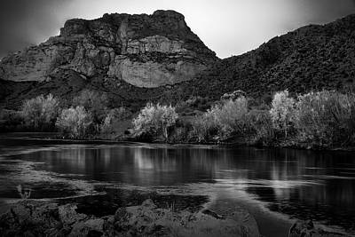 Photograph - Red Mountain In Black And White by Dave Dilli