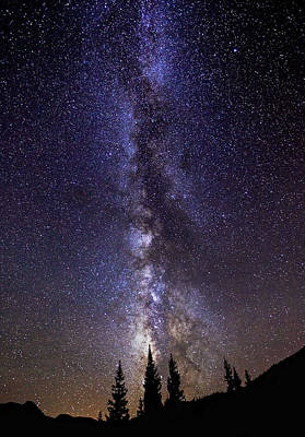 Red Mountain Milky Way Print by Darren  White