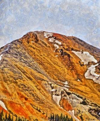 Pass Mixed Media - Red Mountain Pass Colorado by Dan Sproul