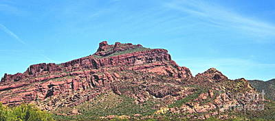 Art Print featuring the photograph Red Mountain by Ruth Jolly