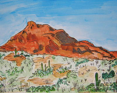 Painting - Red Mt by Marcia Weller-Wenbert