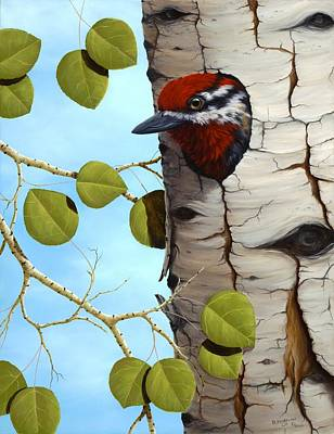 Sapsucker Wall Art - Painting - Red-naped Sapsucker by Rick Bainbridge