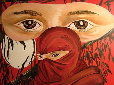 Red Ninja Art Print by Lorinda Fore