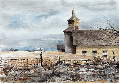Painting - Red Oak Church by Monte Toon