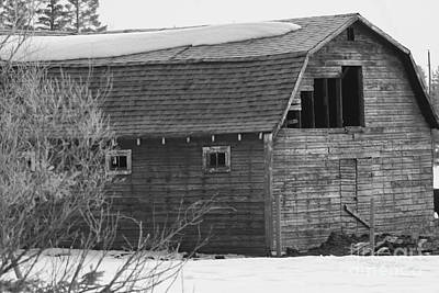 Photograph - Red Old Barn by Mary Mikawoz