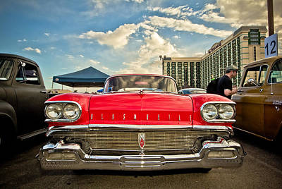 Photograph - Red Oldsmobile  by Merrick Imagery