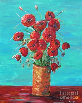Living Room Art Painting - Red On My Table  by Eloise Schneider