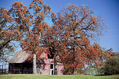 Photograph - Red On Red Barn by Robert Camp