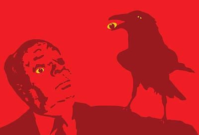 John Keaton Digital Art - Red On Red by Jera Sky