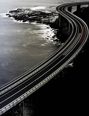 Coast Wall Art - Photograph - Red One Goes Faster. by Andrzej Krawczyk (