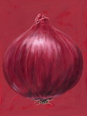Onion Wall Art - Painting - Red Onion by Brian James
