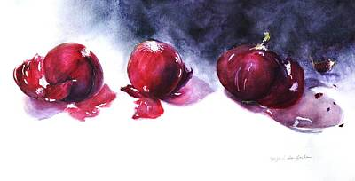 Painting - Red Onions by Kyong Burke