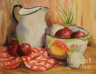 Painting - Red Onions by Marcia Dutton