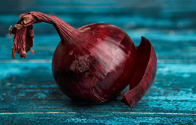 Onion Wall Art - Photograph - Red Onions by Nailia Schwarz