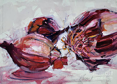 Painting - Red Onions by Roger Parent