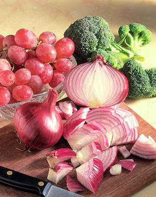 Broccoli Wall Art - Photograph - Red Onions by Sheila Terry/science Photo Library