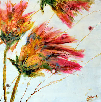 Painting - Red Orange Flowers by Jennifer  Creech