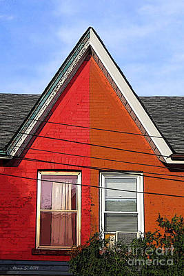 Art Print featuring the photograph Red-orange House by Nina Silver
