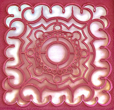 Photograph - Red Ornamental Design. by Slavica Koceva