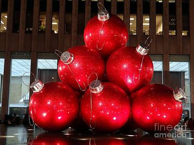 Photograph - Red Ornaments by Ed Weidman
