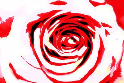 Red Outlined Rose Original