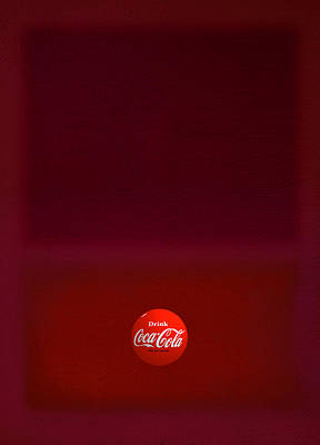 Coca-cola Painting - Red Over Red by Charles Stuart