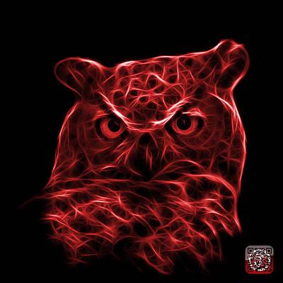 Digital Art - Red Owl 4436 - F M by James Ahn