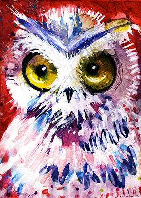 Painting - Red Owl by Laurel Bahe